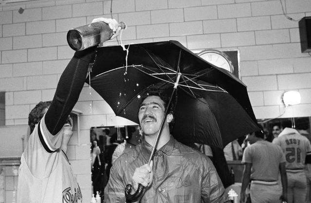 Orioles pitcher Sammy Stewart helped lead the team to its 1983 World Series win. (AP Photo)