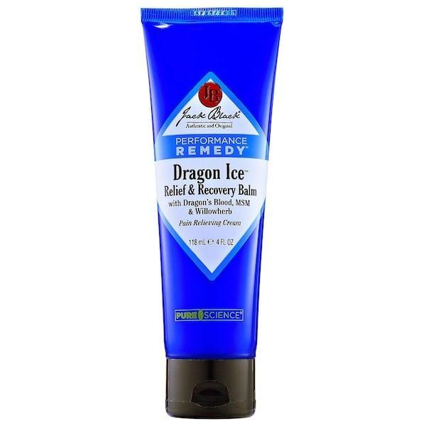 """<p>If there's a problem, this <span>Jack Black Performance Remedy Dragon Ice Relief and Recovery Balm</span> ($24) can help solve it. It relieves aching muscles and joints, soothes bruises and sprains, and even helps with headaches and general stress thanks to its menthol, aloe, and special """"dragon's blood"""" inside.</p>"""