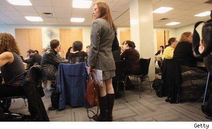 woman at unemployment office Making yourself more relevant and employable