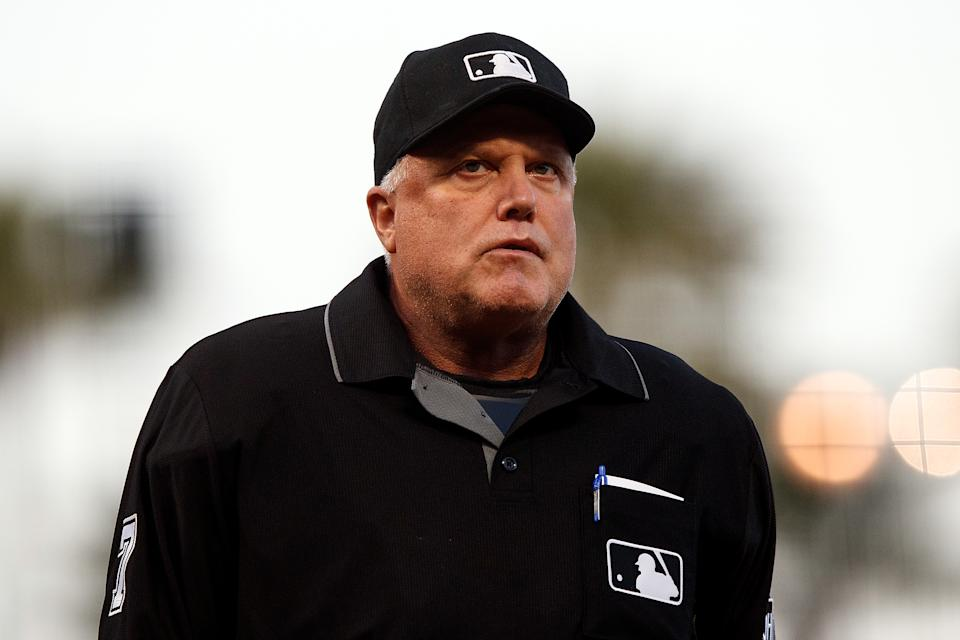 MLB umpire Brian O'Nora was one of 14 arrested by an Ohio human trafficking task force. (Photo by Jason O. Watson/Getty Images)