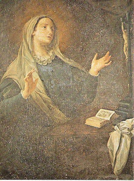 """Born in 1447, <a href=""""http://w2.vatican.va/content/benedict-xvi/en/audiences/2011/documents/hf_ben-xvi_aud_20110112.html"""">Catherine of Genoa</a>is perhaps best known for her visions of and treatise on purgatory. She conceptualized purgatory as an interior, rather than exterior, fire which individuals experience within themselves. """"The soul presents itself to God still bound to the desires and suffering that derive from sin and this makes it impossible for it to enjoy the beatific vision of God,"""" Catherine wrote in her book of revelations. She developed a deep relationship with God which Pope Benedict XVI described as a """"unitive life."""" Catherine also dedicated her life to caring for the sick, which she did at the Pammatone Hospital until her death in 1510. She was canonized in 1737."""