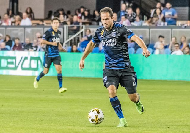 "<a class=""link rapid-noclick-resp"" href=""/soccer/teams/san-jose-earthquakes/"" data-ylk=""slk:San Jose Earthquakes"">San Jose Earthquakes</a> striker Marco Urena sent his team to the MLS playoffs with a dramatic late winner. (Getty)"