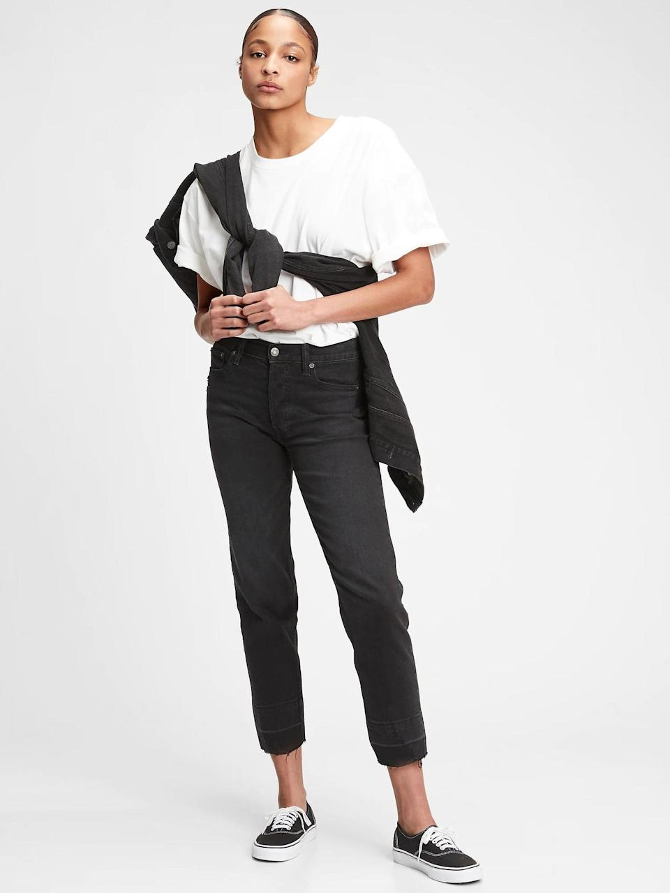 <p>These <span>Gap High Rise Cheeky Straight Jeans</span> ($48, originally $70) are classic, and made to be worn all the time.</p>