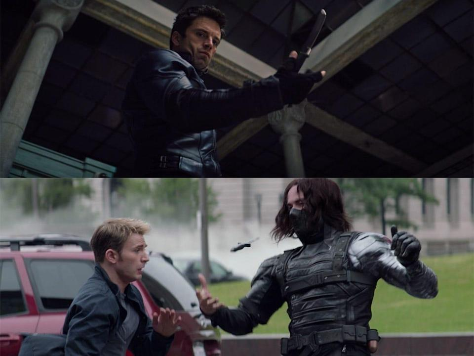 the falcon and the winter soldier 104 detail bucky knife trick captain america the winter soldier