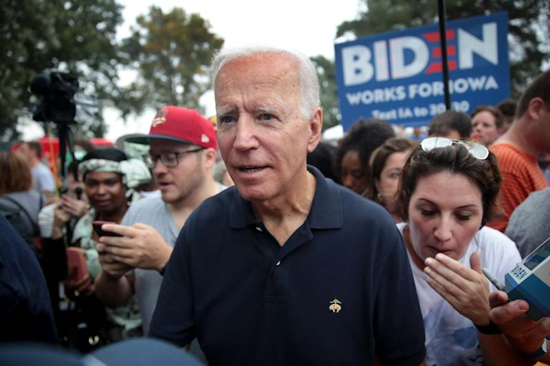 Joe Biden greets guests at the Polk County Democrats' Steak Fry: Getty Images