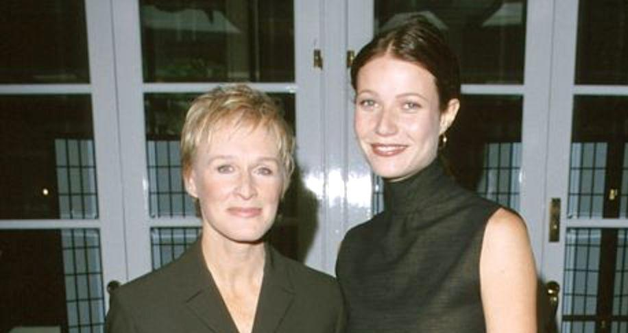 Glenn Close and Gwyneth Paltrow at a luncheon in November 1999. (Photo: Steve Granitz via Getty Images)