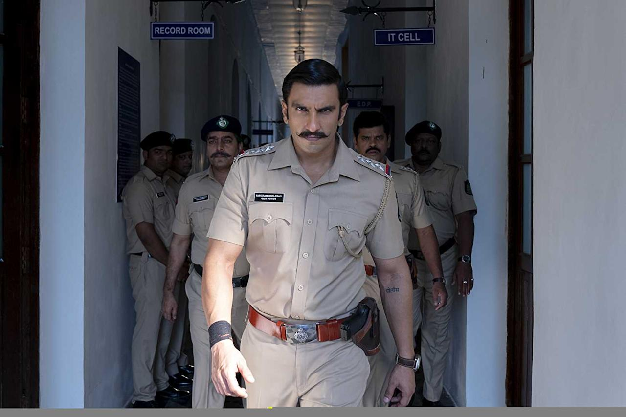 Ranveer Singh killed it in Rohit Shetty's over the top action drama film as the bad cop gone good. The movie became Rohit Shetty's biggest hit as it beats lifetime business of Chennai Express.