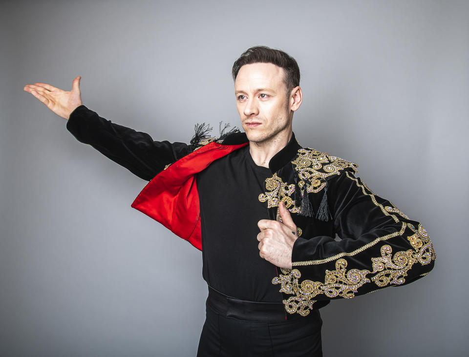 LONDON, ENGLAND - MARCH 13: Kevin Clifton will star as Scott Hastings in the UK tour of Strictly Ballroom The Musical, based on the smash hit Baz Luhrmann film on March 13, 2020 in London, England.The tour, directed by Craig Revel Horwood, kicks off in September this year and will play at theatres all over the UK until June 2021  (Photo by Dave J Hogan/Getty Images for Strictly Ballroom The Musical)