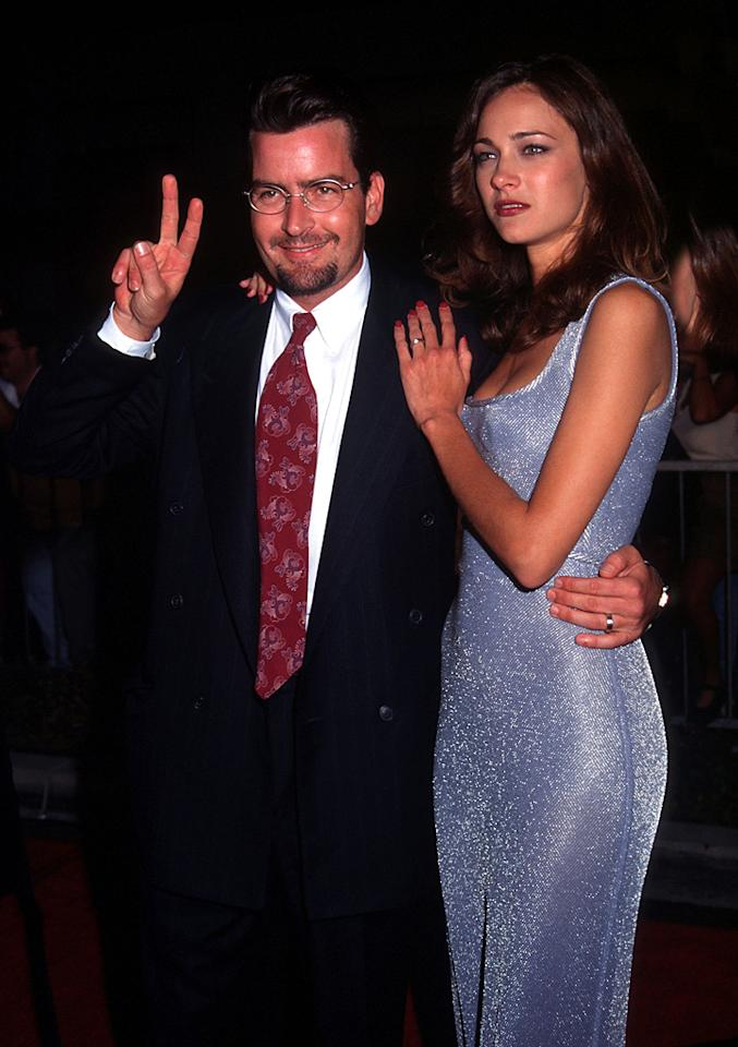 """<b>Charlie Sheen and Donna Peele</b><br><br>Model Donna Peele should've been tipped off that marrying Charlie Sheen wasn't the greatest idea early on in the relationship. In a deposition during the 1995 tax evasion trial of Hollywood madam Heidi Fleiss, Sheen revealed both that he'd spent more than $50,000 on """"sexual services"""" from Fleiss and her employees between 1991 and 1993, and that he planned to settle down and marry Peele. Not surprisingly, the union didn't last long. The couple called it quits less than five months later. Sheen, who has since had rocky marriages to Denise Richards and Brooke Mueller that both ended in divorce, was a gentleman as always when explaining the breakup. """"You buy a bad car, it breaks down,"""" he said. Ladies, how is this guy still on the market?!"""