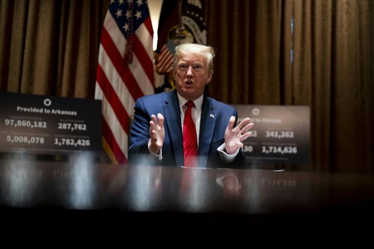 US President Donald Trump said he is considering hosting world leaders for a face-to-face G7 summit at Camp David