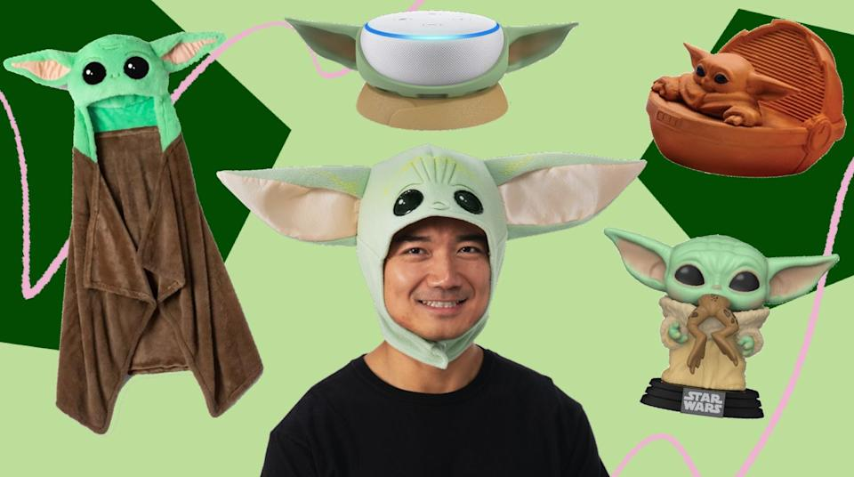 """In honor of the second season of """"The Mandalorian,"""" this Baby Yoda merch is out of this world. (Photo: HuffPost)"""