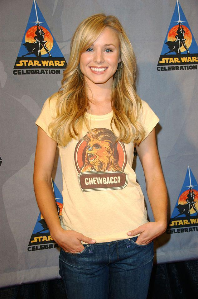 <p>The actress chose the perfect look for a <em>Star Wars</em> party in L.A. marking the 30th anniversary of the first <em>Star Wars</em> movie. Can't you just hear Chewie screaming his approval? (Photo: WireImage) </p>