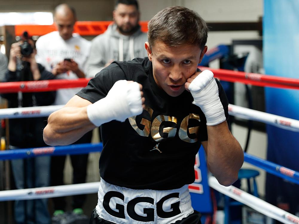 Golovkin is putting his WBC, IBF and WBA 'Super' World Titles on the line: Getty