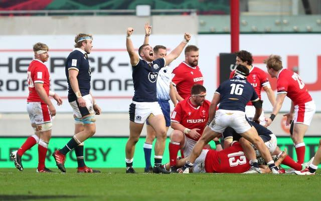 Scotland celebrated their first win in 18 years in Wales during the Autumn Nations Cup