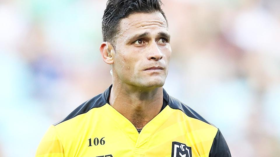 Henry Perenara, pictured here during a game between the Bulldogs and Rabbitohs in 2019.