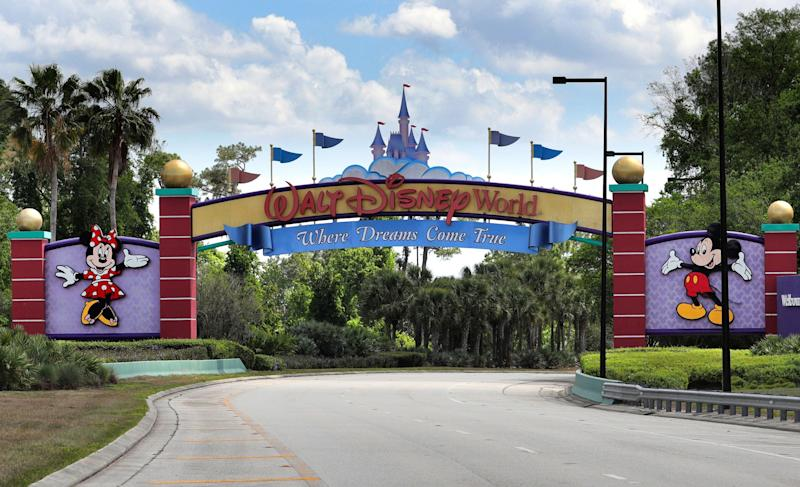 The plan for the NBA's return to Disney World is a bit like March Madness.  (Joe Burbank / Orlando Sentinel via Getty Images)