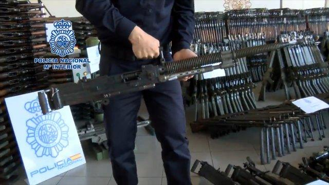 Spanish police seize more than 10,000 firearms in huge counter-terrorism raid