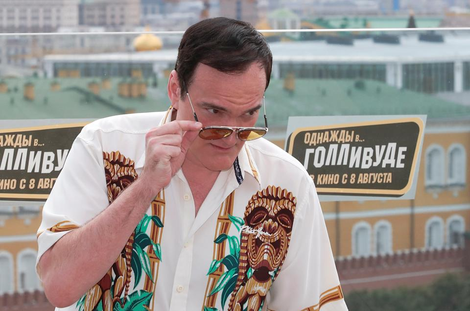 """Film director Quentin Tarantino poses for a picture during a photocall for his new movie """"Once Upon a Time in Hollywood"""" ahead of its Russian premiere in central Moscow, Russia August 7, 2019. REUTERS/Shamil Zhumatov"""