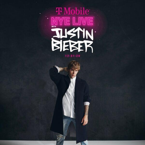 new year's eve countdown - t mobile justin bieber