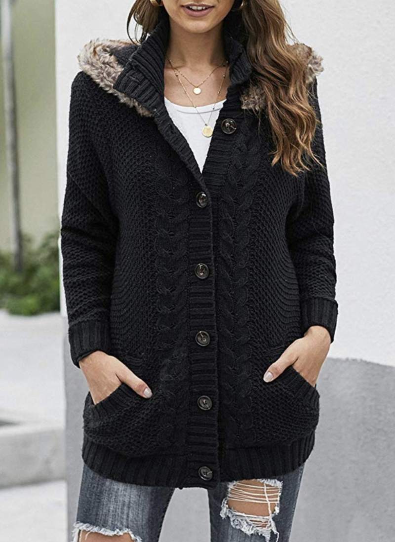 Sidefeel women's knit hooded cardigan. (Photo: Amazon)