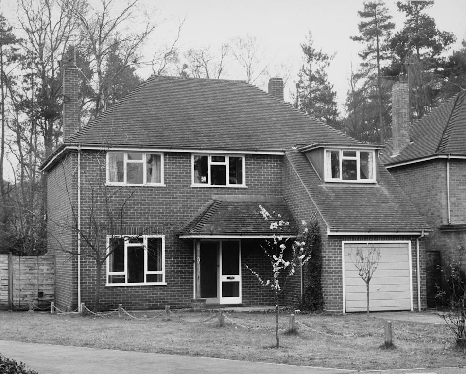 A photo of a detached house in Silverdale, Fleet, Hampshire, that was rented by the would-be kidnapper of Princess Anne, Ian Ball.