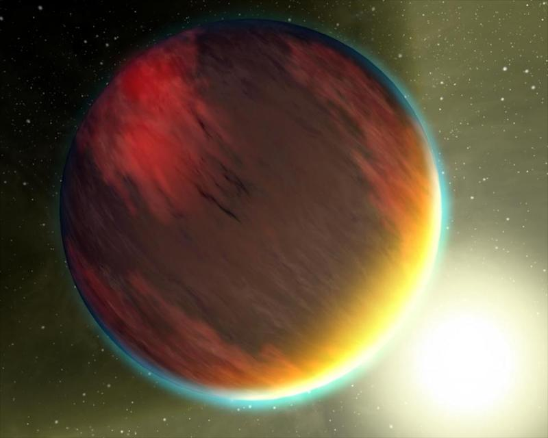 470 light years away, a planet 'darker than charcoal'