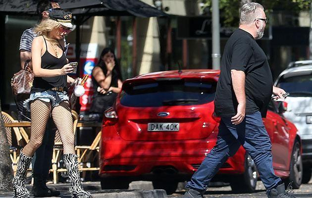 The shock jock was pictured with girlfriend Imogen Anthony last weekend. Source: Diimex