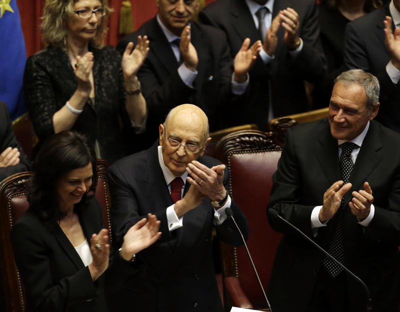 Italian president chastises country's politicians