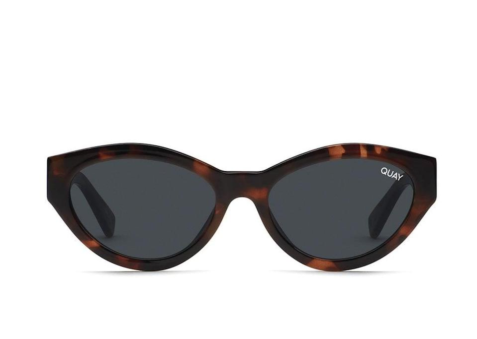 <p>We're loving the shape of these <span>Quay Totally Buggin Sunglasses</span> ($39, originally $55).</p>