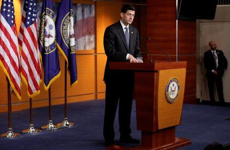 Speaker of the House Paul Ryan (R-WI) speaks after Senate Republicans unveiled their version of legislation that would replace Obamacare on Capitol Hill in Washington, U.S., June 22, 2017.   REUTERS/Joshua Roberts