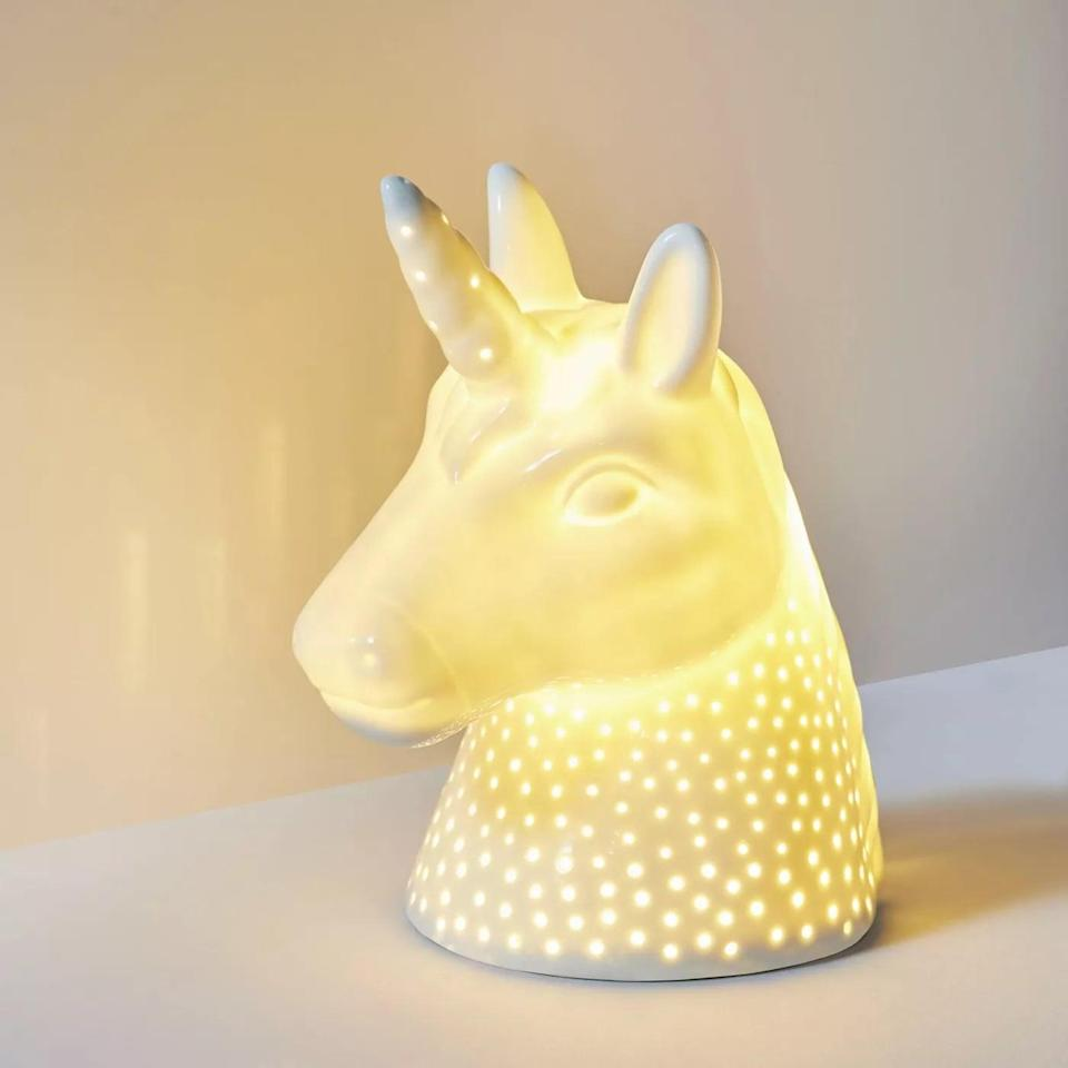 <p>Give them the most magical dreams with this <span>Pillowfort Unicorn Ceramic Nightlight </span> ($20). It'll set the ambiance for their nighttime routine. </p>