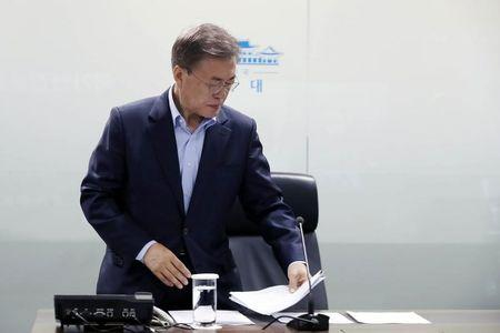 Moon says 'high possibility' of conflict with North as missile crisis builds