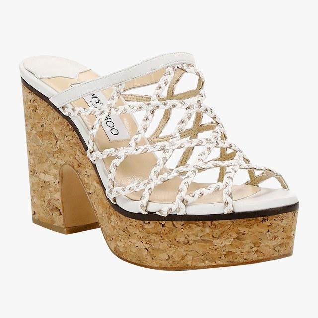 Jimmy Choo Dalina braided-leather mesh mule sandals, $595, saks.com