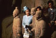 <p>She also saw the Terracotta Army soldier statues during her stay.</p>