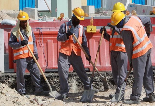 The poor treatment of construction workers is one of the major issues dogging Qatar since the controversial decision in December 2010 to award it the right to host football's World Cup (AFP Photo/)