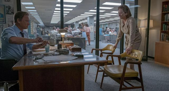 "Tom Hanks and Meryl Streep in ""The Post."" (Photo: Courtesy Twentieth Century Fox)"