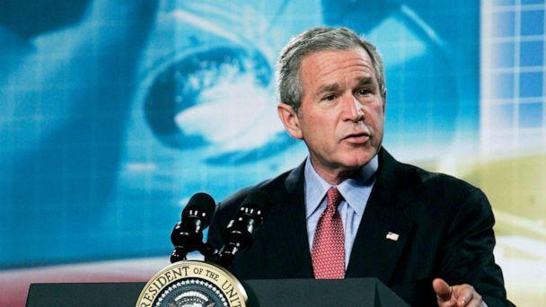 PHOTO: President George W. Bush speaks about the administration's national strategy for pandemic influenza preparedness and response at William Natcher Center of the National Institutes of Health, Nov. 1, 2005, in Bethesda, Md. (Alex Wong/Getty Images)