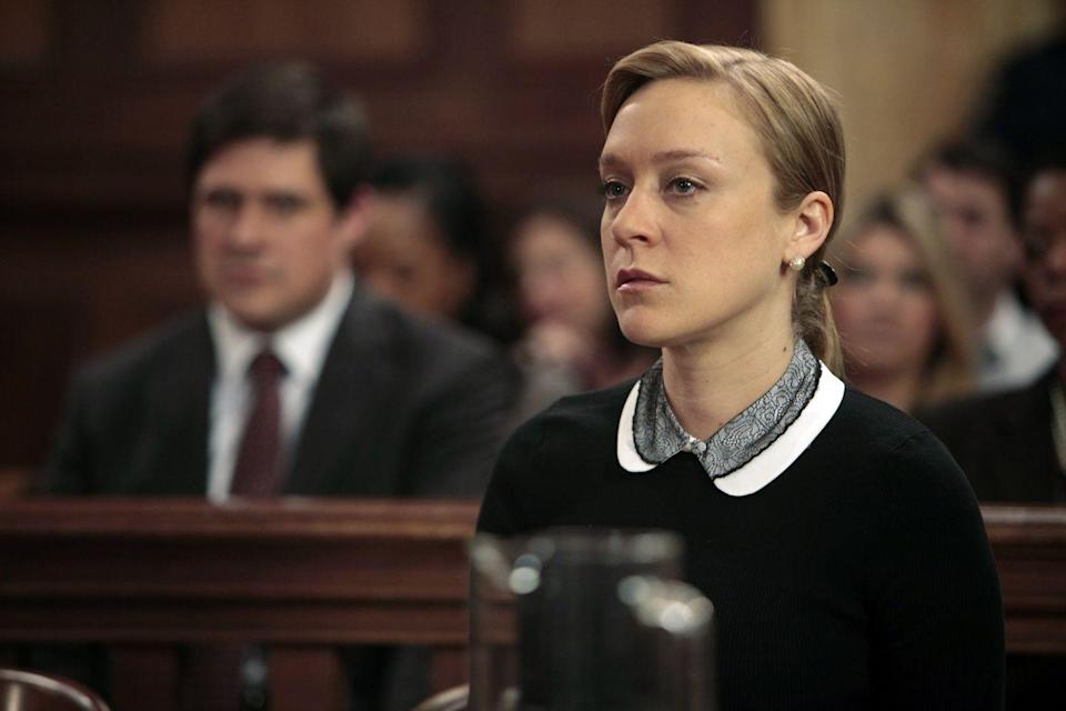 "<p>Sevigny portrays a somber Christine Hartwell in the season 13's ""Valentine's Day""—a woman claiming to have been attacked and kidnapped while video chatting with her husband overseas. When details of an affair surface, she no longer seems so innocent, yet a sympathetic juror still manages to turn the trial upside down.</p>"