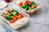 <p>If you've chosen a dish you know can double as lunch the next day, double your recipe. And if there's little risk that you'll grow tired of eating the same foods throughout the week, consider adding that dish to your meal plan twice to save some time and effort on meal prep.</p>