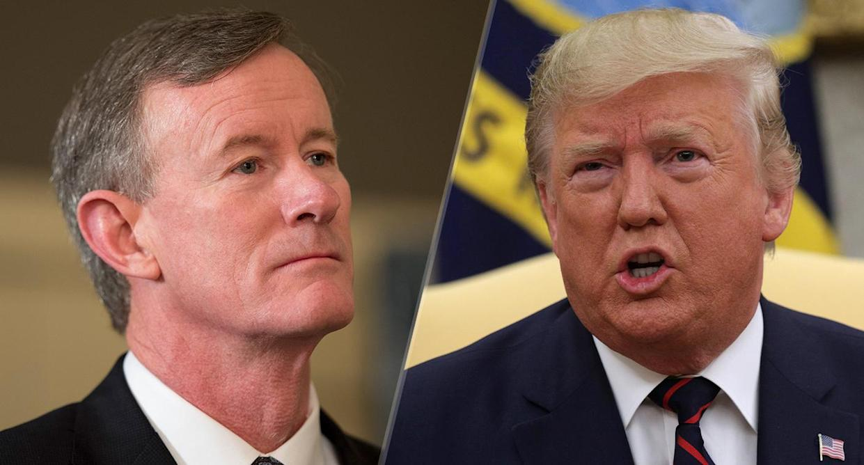 Adm. William McRaven and President Trump (Photos: Robert Daemmrich Photography Inc/Corbis via Getty Images, Alex Wong/Getty Images)