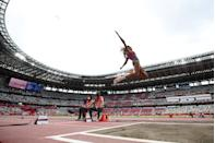 <p>Tara Davis of Team United States competes in the Women's Long Jump Final on day eleven of the Tokyo 2020 Olympic Games at Olympic Stadium on August 03, 2021 in Tokyo, Japan. (Photo by Matthias Hangst/Getty Images)</p>