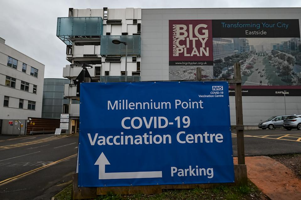 The vaccination centre at Millenium Point, Birmingham. (PA)