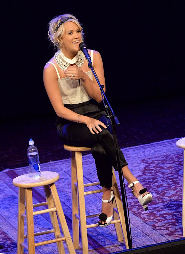 "Carrie Underwood Celebrates No. 1 Song ""Two Black Cadillacs"" At Exclusive Fan Club Party During 2013 CMA Music Festival Week"