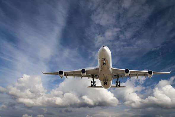 large commercial airplane is...