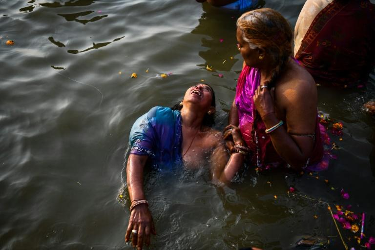 Pilgrims travel from every corner of India for the ritual dip