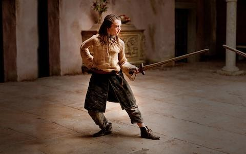 Arya with her trusty weapon 'Needle'
