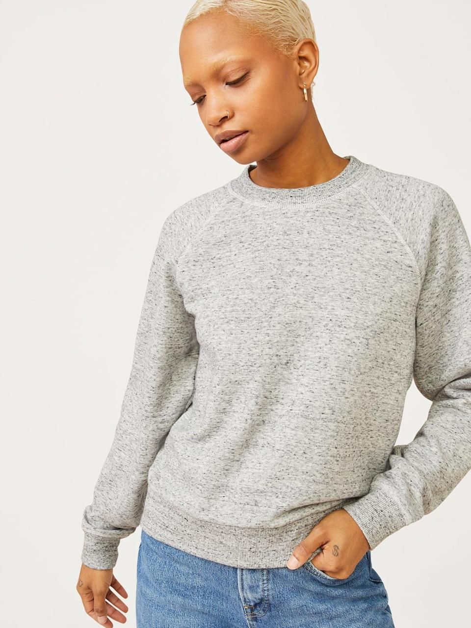 <p>The <span>Free Assembly Women's Classic Raglan Sweatshirt</span> ($22) is highly covetable for fall, with a nearly perfect five-star rating and a ton of positive reviews.</p>