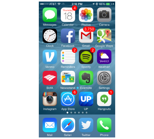 iPhone 6 Home screen