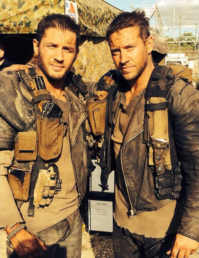 <p>Given the fact that <i>Mad Max: Fury Road</i> was action-packed from start to finish, Hardy definitely required some brawny backup (pictured here with his stunt double, Jacob Tomuri).</p><p><i>(Photo: Instagram)</i></p>