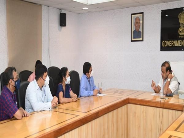 Assam Chief Minister Himanta Biswa Sarma meets delegation of the Assam State Branch of Indian Medical Association